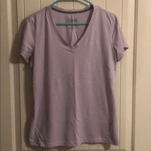 Light Purple V-Neck Nike Dri-Fit Workout Shirt